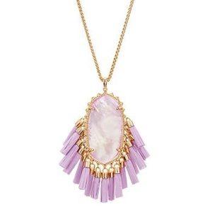 Kendra Scott Betsy Tassel Pendant Necklace Lilac